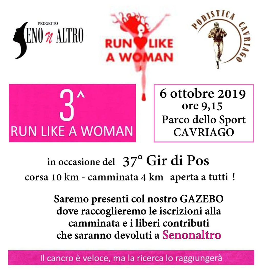 Run like a Woman 6 ottobre 2019