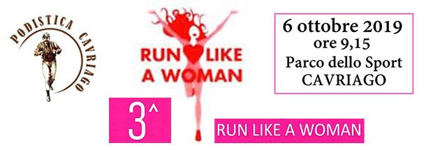 Run like a Woman 6 ottobre 2019